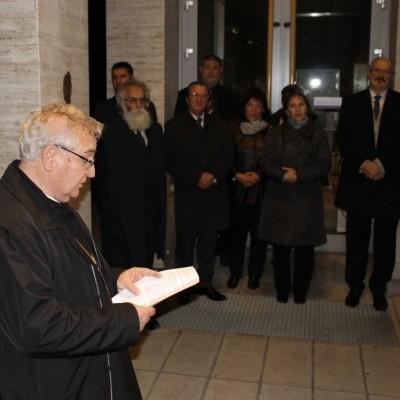 Szent Márton lábnyomának elhelyezése Pannonhalmán