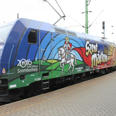 A Szent Márton mozdony szombathelyi avatása