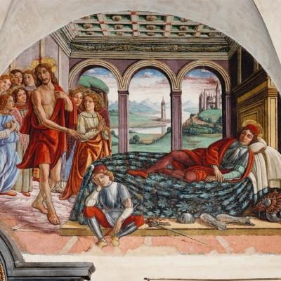 Ghirlandaio műhelye: Krisztus megjelenik Mártonnak